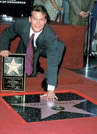 Patrick Swayze got his star on the Hollywood Walk Of Fame in 1997