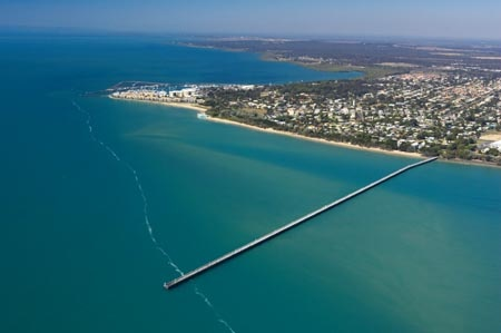 Hervey Bay .. aerial view including Uranguan Pier