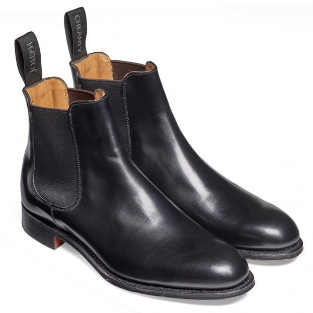 Cheaney Clara Ladies Chelsea Boot in Black Hi Shine Calf Leather