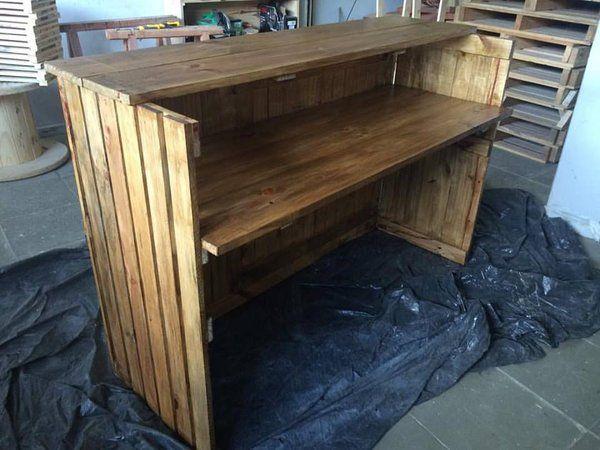 Balc o de paletes cosas pinterest bar madera y cosas for Bar rodante de madera