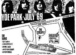 Rolling Stones in Hyde Park 1969  Flyer on the day