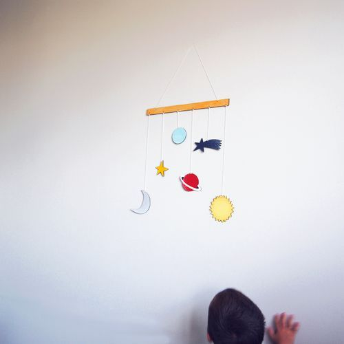 Móvil decorativo espacio