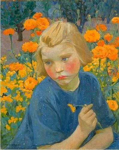 Blue and Gold, 1920, by Mary Bell Eastlake (Canadian, 1864-1951)