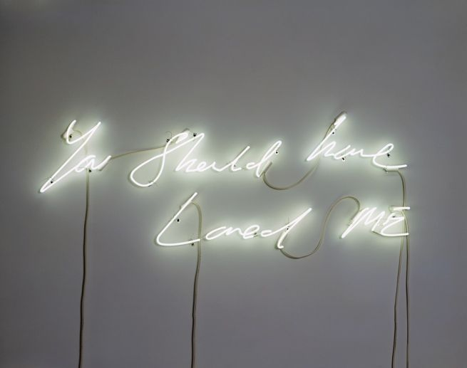 You Should Have Loved Me | Tracey Emin: Traceyemin, Artists, Inspiration, Quotes, Neon Lights, Neon Art, Tracey Emin, Things, White Neon