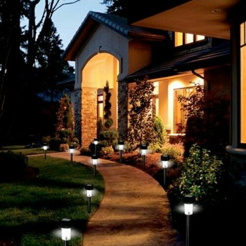 High Quality Stainless Steel Outdoor LED Solar Garden Stake Lights   Built In Stakes U0026  Auto On/Off Sensor