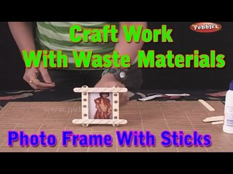 Photo Frame | Craft Work With Waste Materials | Learn Craft For Kids | Waste Material Craft Work