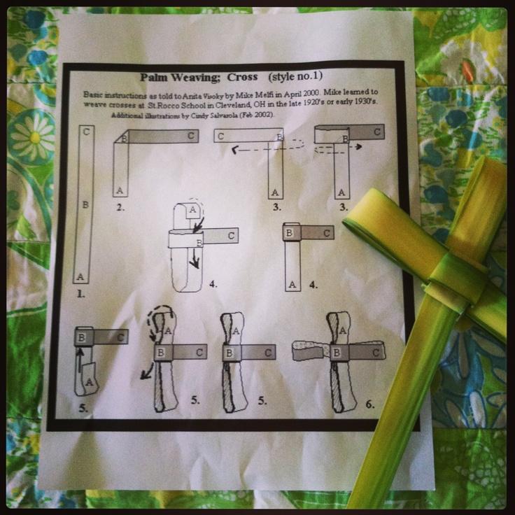 palm cross weave...