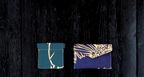 clic clac branchage bleu et pocket marguerite bleu