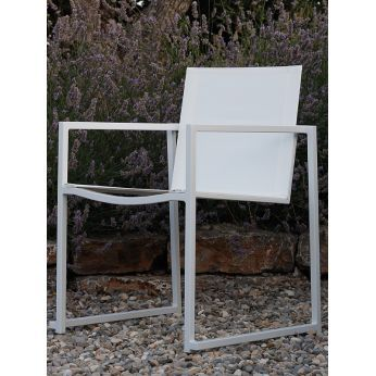 Essence - Poltroncina in alluminio e textilene, per giardino