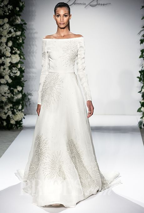 124 best images about dennis basso bridal on pinterest for Kleinfeld wedding dresses with sleeves