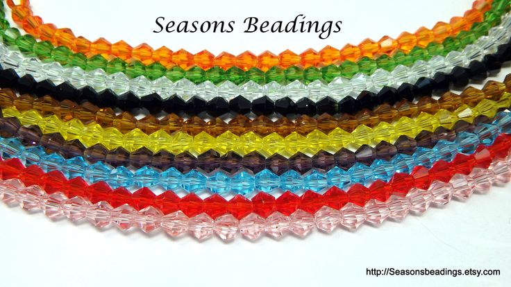 Excited to share the latest addition to my #etsy shop: #Wholesale 10 Strands (1100 Beads) of 4mm #Crystal Glass Faceted #Bicone #Beads - Free Shipping to Canada http://etsy.me/2CA3YbB #supplies #rainbow #jewelrymaking #bulk