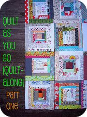 Quilt as you go - making blocks - good tutorial.