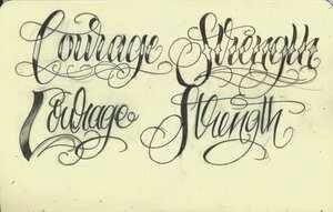 Different fonts. Chicano style