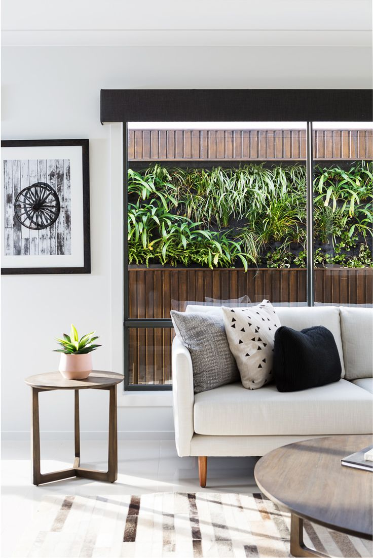 Charcoal Coloured Pelmet That Ties Together Interior Design Elements In This Space