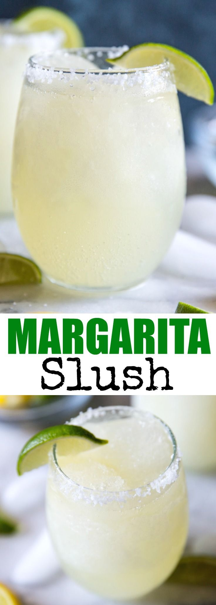 It only takes 4 ingredients to make this easy Margarita Slush! Great for backyard barbecues, pool parties, and summer nights! via @culinaryhill