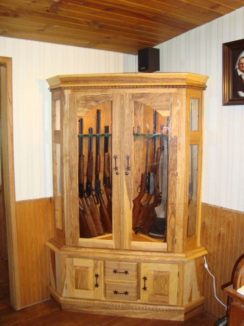 Lovely Hidden Wood Gun Cabinet