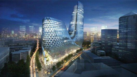 Zhengzhou Mixed Use Development / Trahan Architects - China