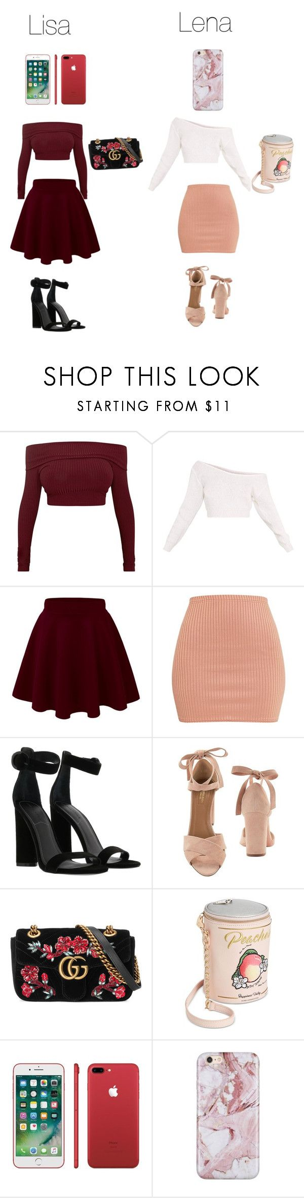 """Lisa or Lena"" by layla07 ❤ liked on Polyvore featuring Kendall + Kylie, Aquazzura, Gucci and Betsey Johnson"