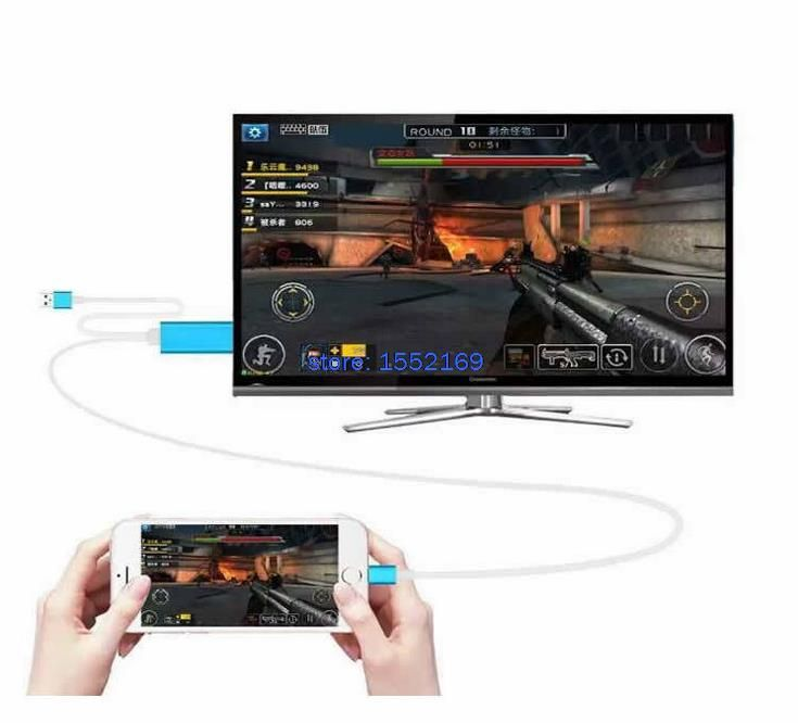 """Лучший продукт из Китая - купить """"8pin Док для HDTV ТВ-адаптер Кабель USB кабель HDMI с разрешением 1080p для iPhone 5 5С 6 6с 6plus 6S плюс кабель HDMI"""" только в 2017 долларов США."""