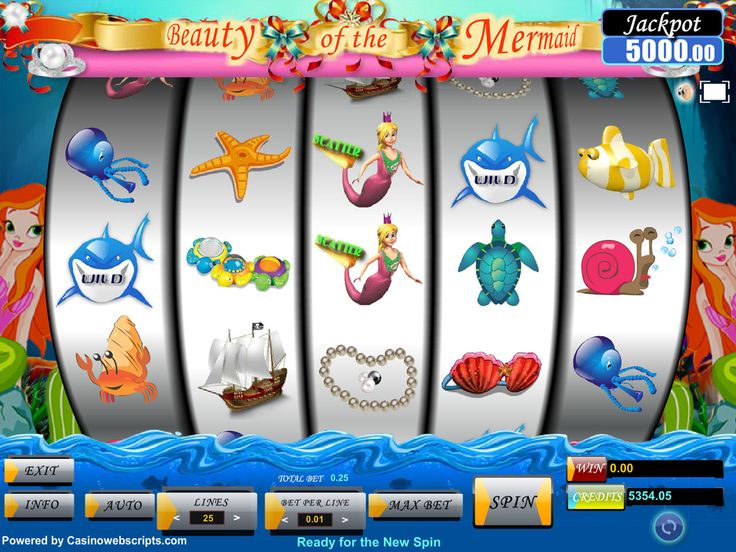 Buy Video Slot game for Online Casino - Beauty of the Mermaid Video Slot Game