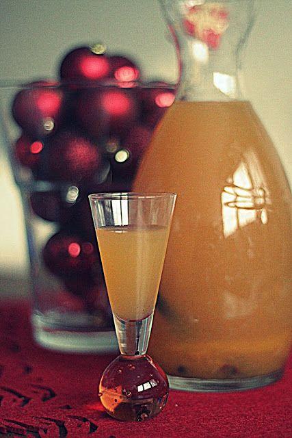 licor de naranja de Navidad. Con azúcar moreno