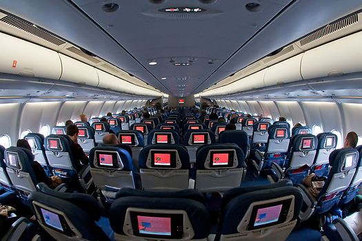 The Cabin Of Delta Air Lines Airbus A330 300 N813nw Flight