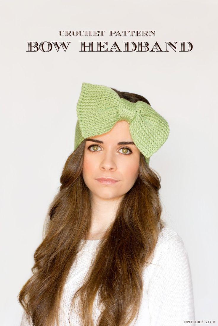 Tunisian Knit Stitch Headband Pattern : Sweetie Pie Bow Headband Crochet Pattern Mom, Stitches and Patterns