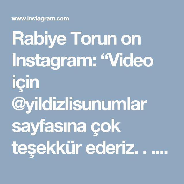 """Rabiye Torun on Instagram: """"Video için @yildizlisunumlar sayfasına çok teşekkür ederiz. . . #Yidizsalata Selamun aleyküm 🌹🌹 Hayırlı ve güzel haberler alacağımız bir…"""""""