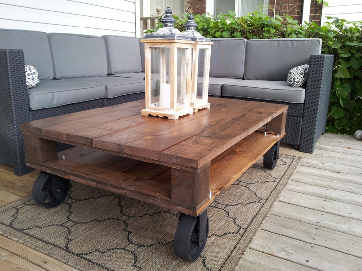 Find This Pin And More On Industrial Pallet Coffee Tables