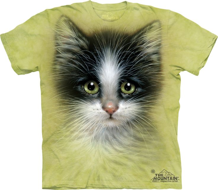 Green Eyed Cat T-Shirt - Click image to see hundreds of different animal t-shirts #themountaintees