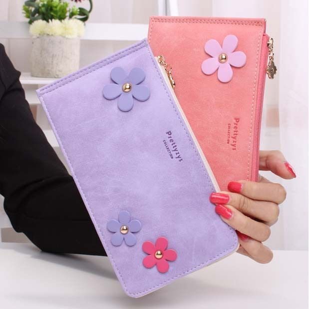 Cheap wallet holder, Buy Quality wallet pink directly from China wallet leather case for samsung galaxy s2 Suppliers: Sweet Lady Floral Wallet Nubuck Leather Zipper Card Holders Bifold Fashion Cash Pocket Girls' Money Purses Female Wall