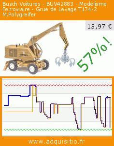 Busch Voitures - BUV42883 - Modélisme Ferroviaire - Grue de Levage T174-2 M.Polygreifer (Jouet). Réduction de 57%! Prix actuel 15,97 €, l'ancien prix était de 36,84 €. https://www.adquisitio.fr/busch-voitures/buv42883-mod%C3%A9lisme