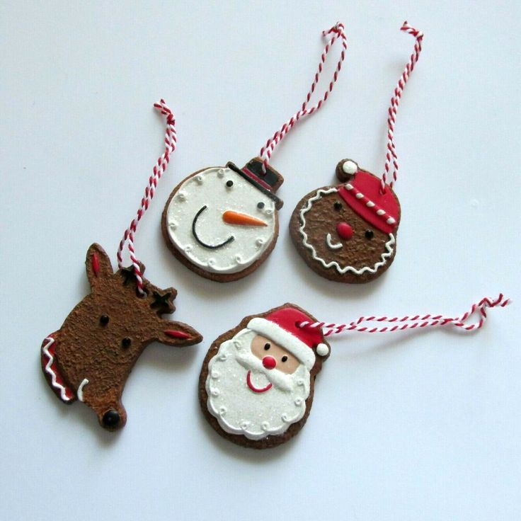 Lot 4 Hallmark Gingerbread Christmas Ornaments Cookie