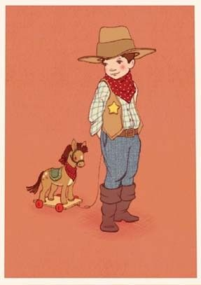 #jongenskamer Belle & Boo Kaart Cowboy | Petite Louise