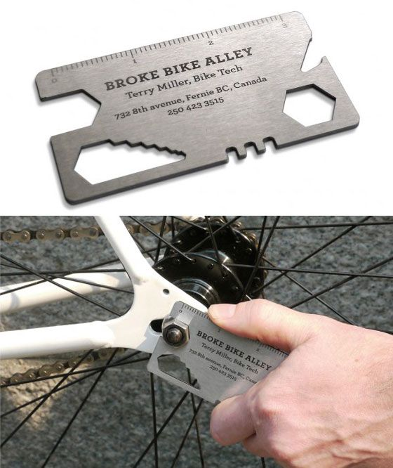 30 best thoughts on business cards fom helpdotcalm images on bike tool business card the business cards for broke bike alley in fernie canada are bike tools one is a multi spanner and one is a tire patch colourmoves