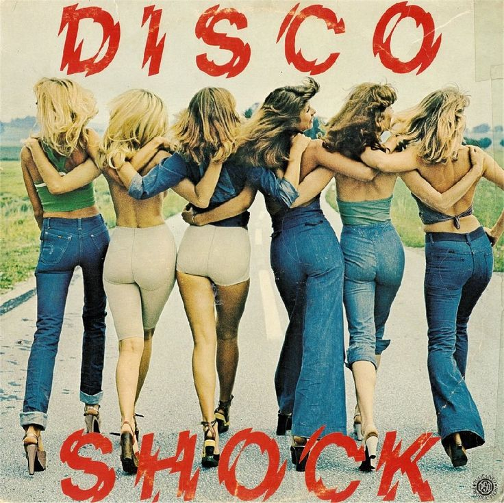 Disco Shock (1978) 70s jeans color photo print ad models magazine