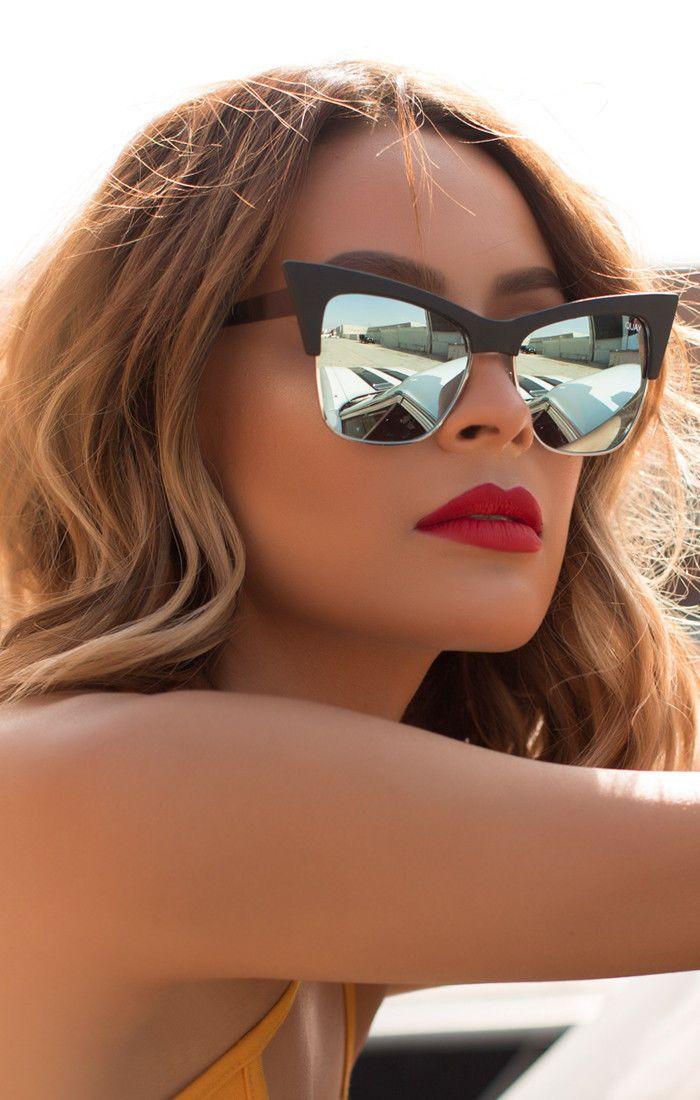 cd1f640632 Quay X Desi T.Y.S.M. Black Mint Mirror Sunglasses