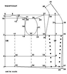 Double breasted waistcoat pattern