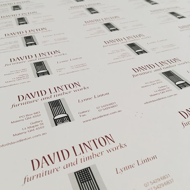 Waiting to be cut - business cards on 300gsm Envirocare (100% recycled) for David Linton  #greenprintery #printing #sunshinecoast #businesscards #recycled #environmental #ecofriendly #maleny