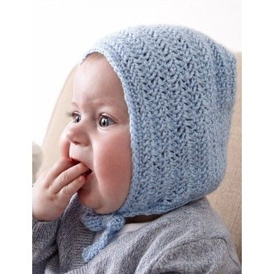 This adorable baby bonnet is easily crocheted in Bernat Baby yarn | Herringbone Bonnet| Yarnspirations| Baby Shower