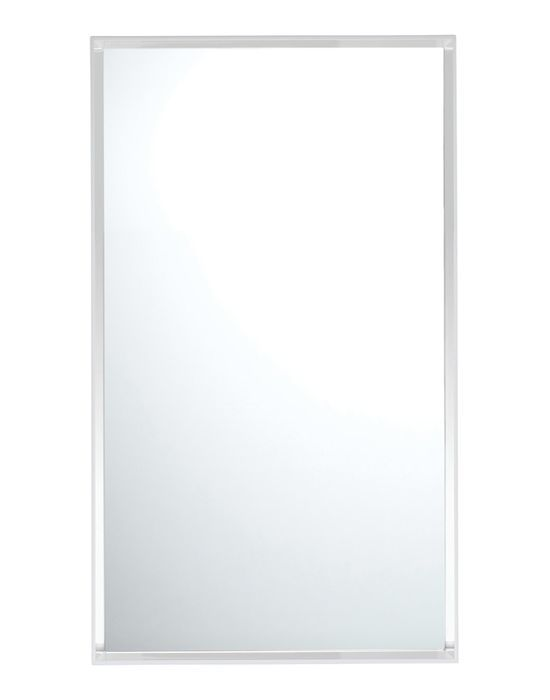 Only Me Mirror - The New Collection Of Mirrors Signed By Philippe Starck Adds The First Wall Mirror To The Kartell Catalogue. It Comes In Three Versions, With a Matte White Or Matte Black Frame Or a Transparent Frame, Measuring 80 x 180 Cm.