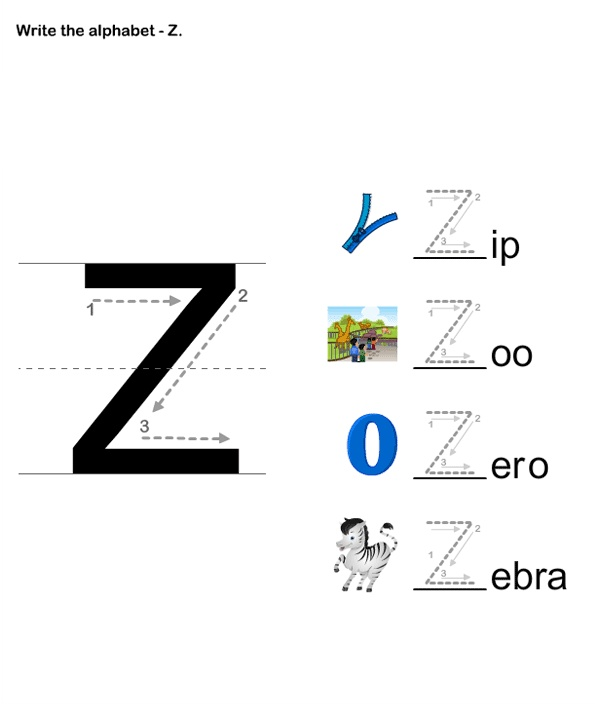 17 Best images about Letter Z Worksheets on Pinterest   The ...