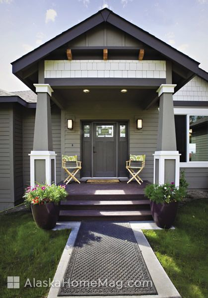 Exterior paint: Anonymous with Urbane Bronze and Shoji White accents, Sherwin Williams