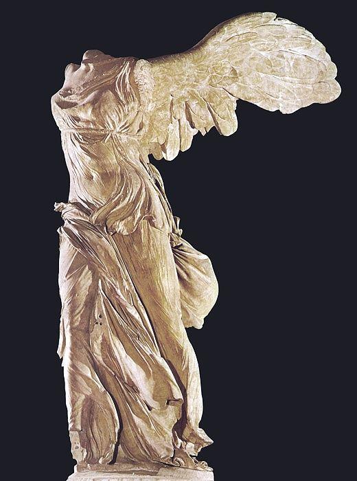 GRECJA: Nike z Samotraki - Pytokritos z Rodos, marmur, III-II w. p.n.e.
