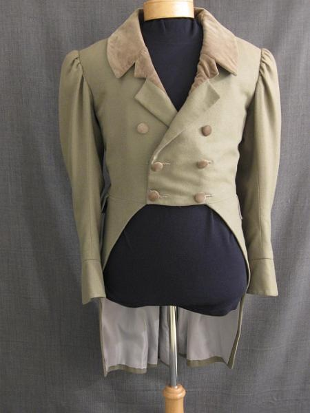Coat 1810 taupe wool