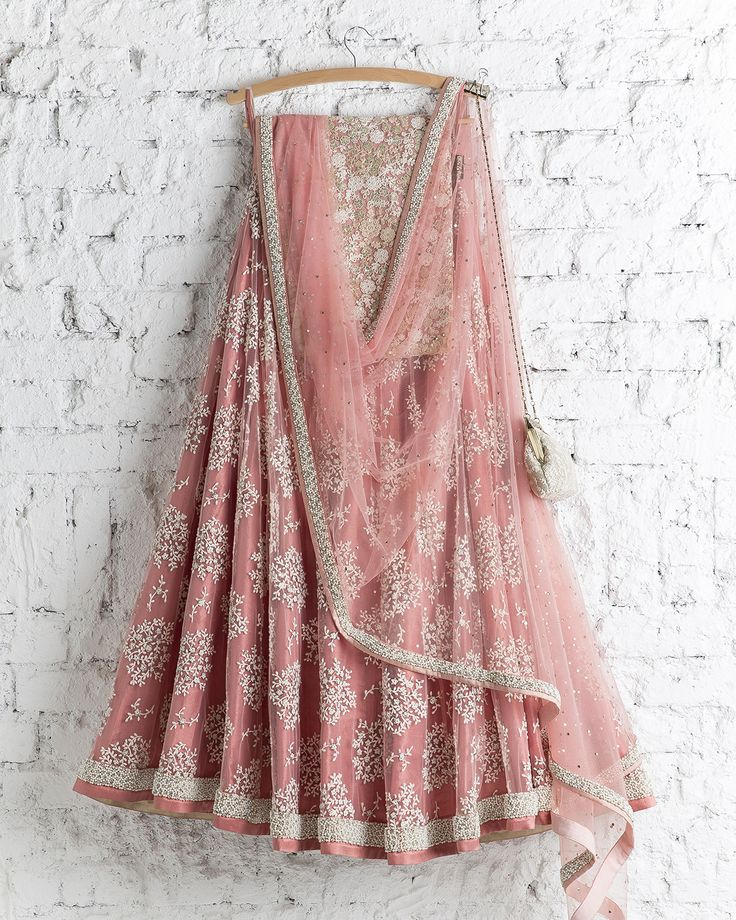 SwatiManish : Honey Suckle Pink With White Thread Work