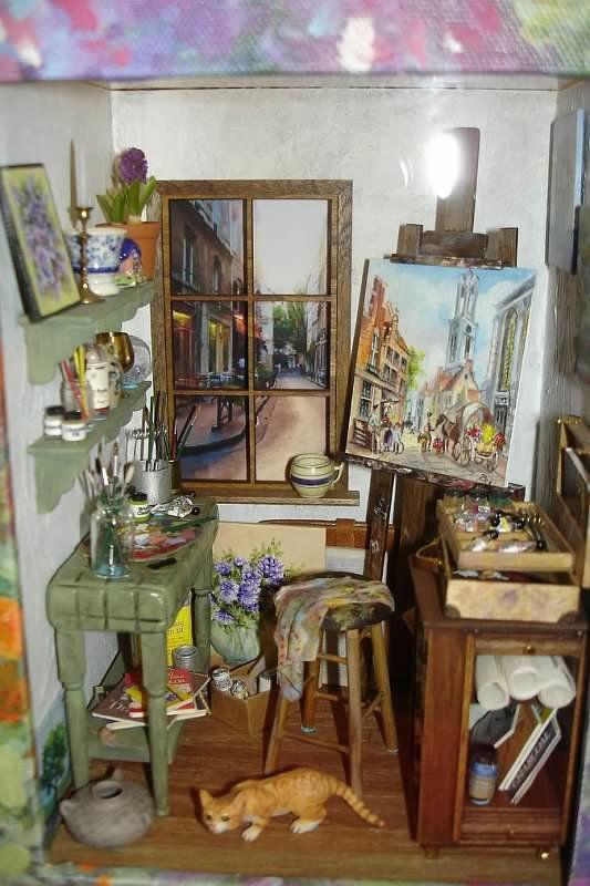 Mini Artist Studio   Connie Sauve   Miniature Show Photos   Love This It Is  Wonderful