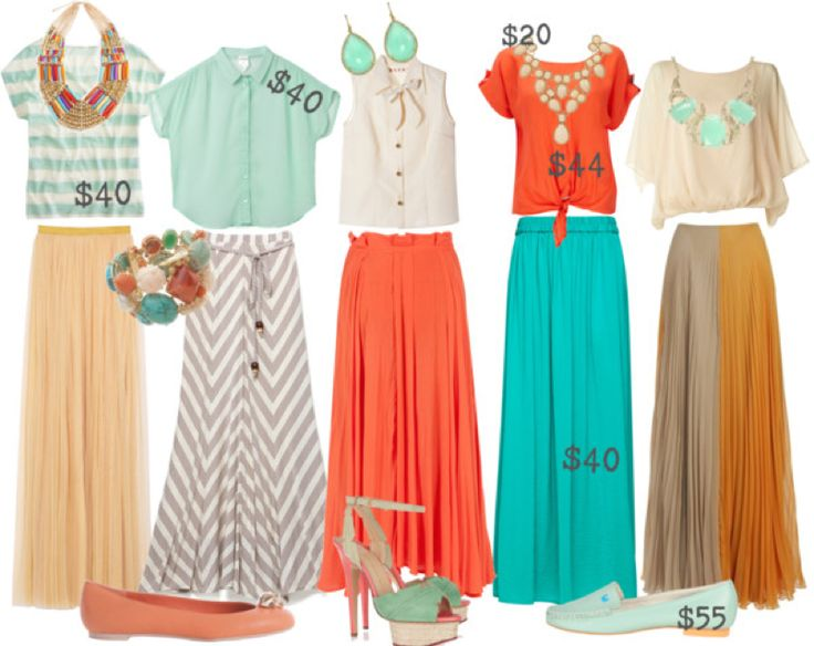 maxi skirts, styled outfits