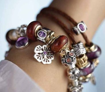 Pandora Bracelet  -this is actually a pretty neat color combo!