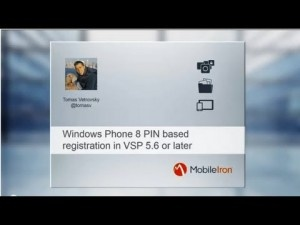 Mobileiron demo how to use pin based registration with windows phone